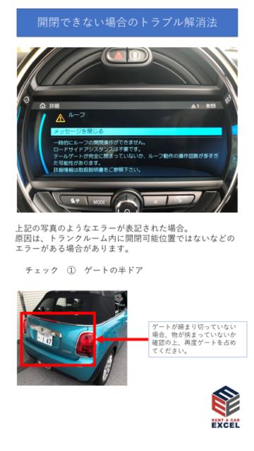 MINIコンバーチブル トランク③